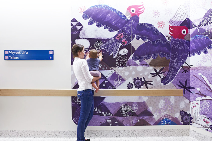 Jane Reiseger drawing for Royal Children's Hospital
