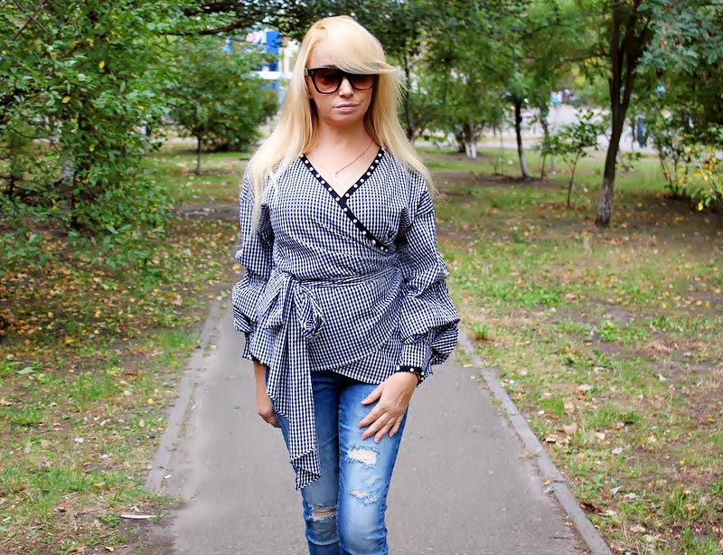 ZAFUL Haul: Wrap Coat and Wrap Blouse. Осеннее пальто, блуза и аксессуары / обзор, отзывы, фото