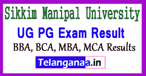 Sikkim Manipal University Results 2018 UG PG Result