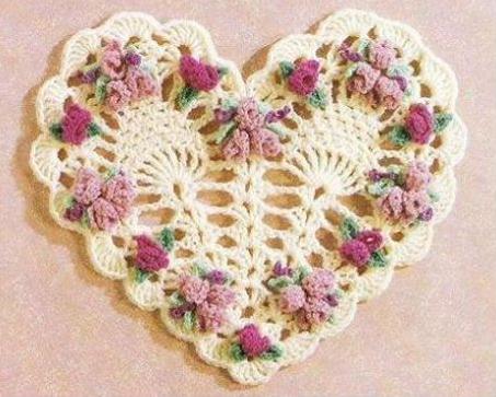 Patrón #1822: Decoración de Corazón a Crochet