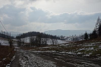 szlak na Chełmiec panorama