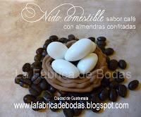 Venta de recuerdos de boda en nido de pajaro con almendras de boda personalizadas como chocolates MyM en ciudad de guatemala