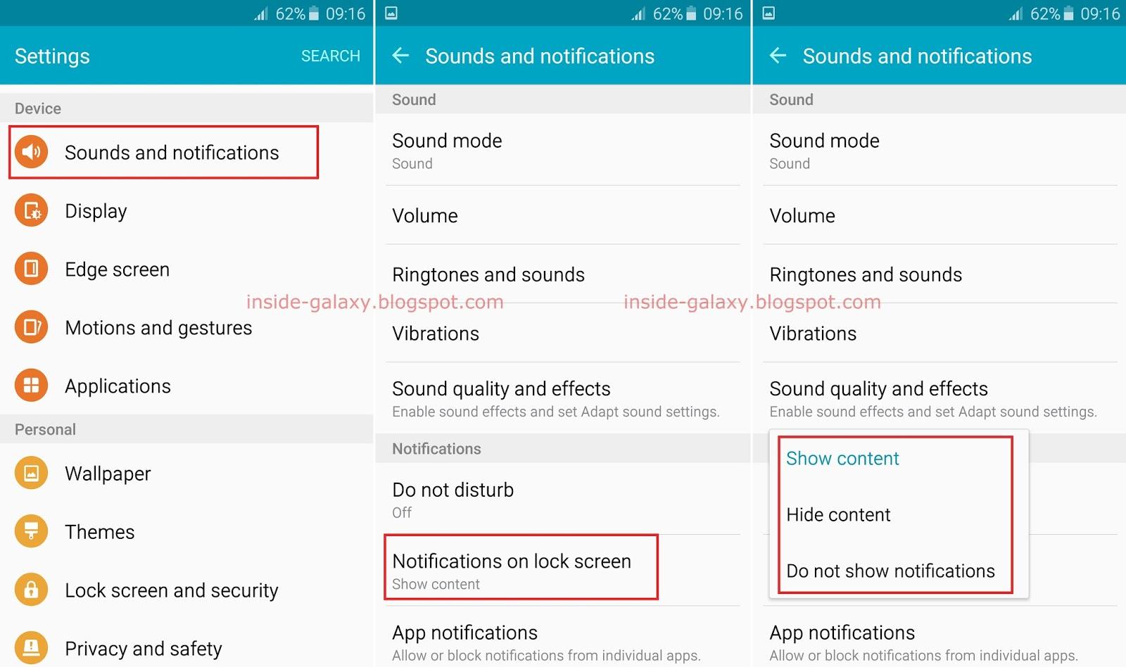 zen phone how to set notificstions