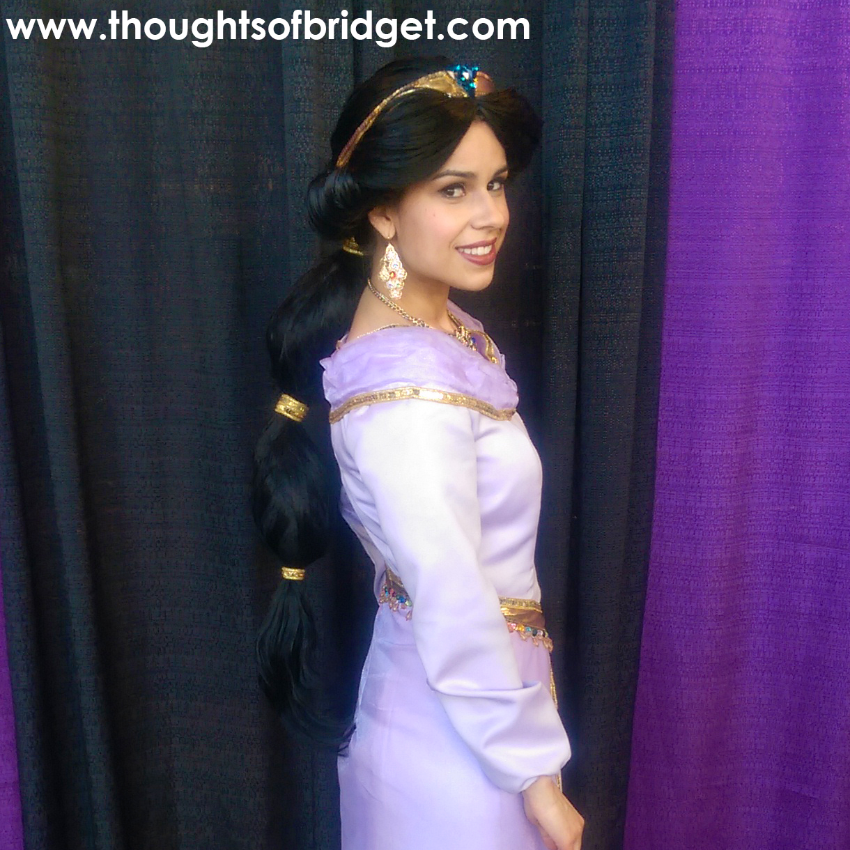I made this Jasmine costume for the 2015 FanX convention in Salt Lake City. Someone on Pinterest asked if I could post a tutorial on how I styled the wig ...  sc 1 st  Thoughts of Bridget & Thoughts of Bridget: Jasmine Wig Tutorial