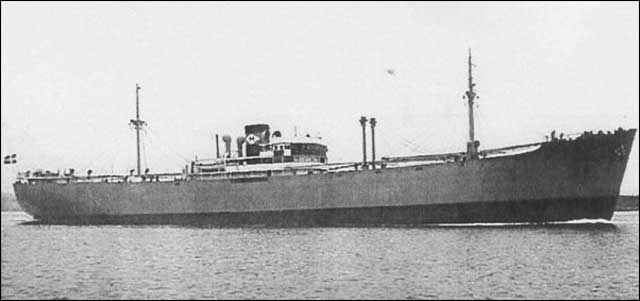 Norwegian freighter Herstein, sunk on 20 January 1942 worldwartwo.filminspector.com