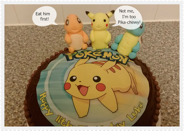 Pikachu Cake with Charmander and Squirtle