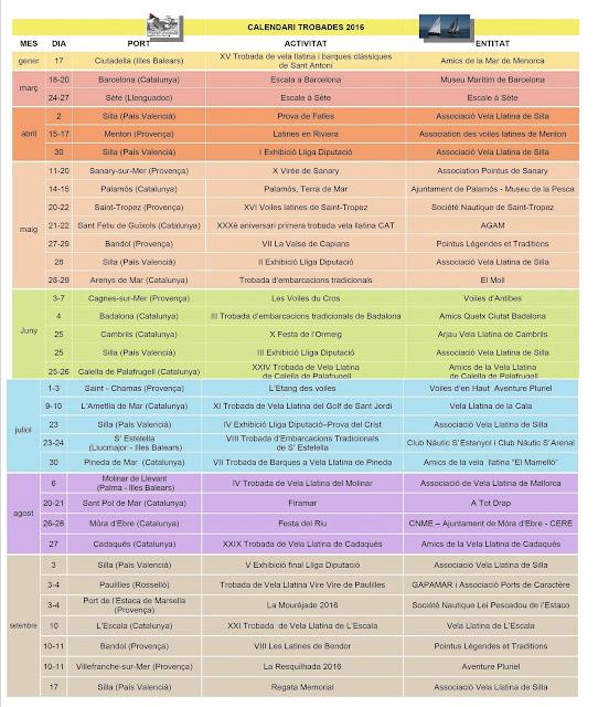 Calendari Trobades 2016