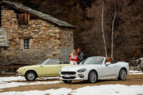 Original and Modern Fiat 124 Spiders
