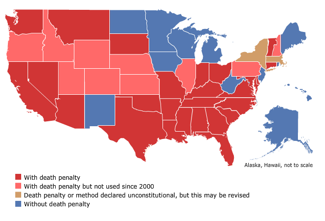 An argument in the legalization of capital punishment in all states of america
