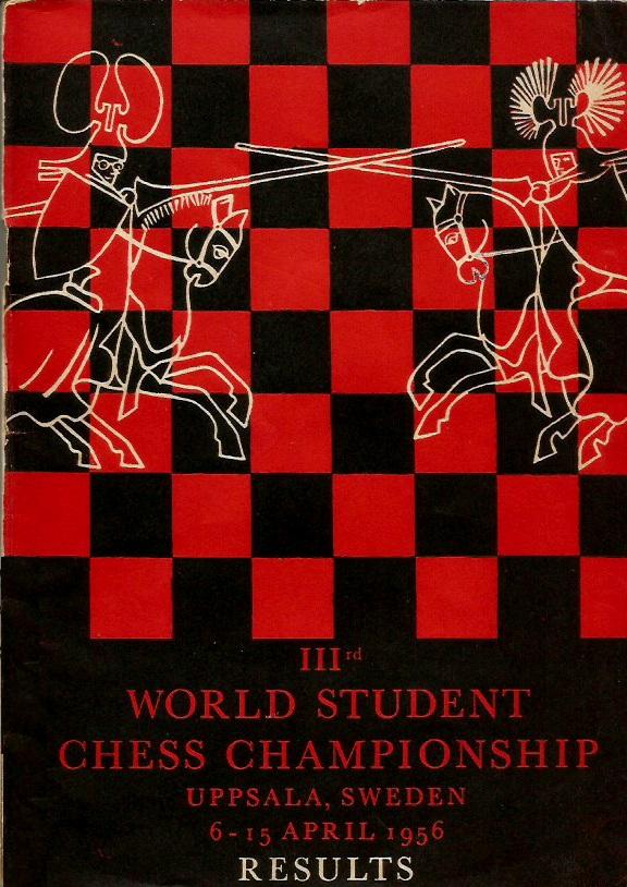 Portada del libro del III Campeonato Mundial Universitario de Ajedrez - Uppsala 1956