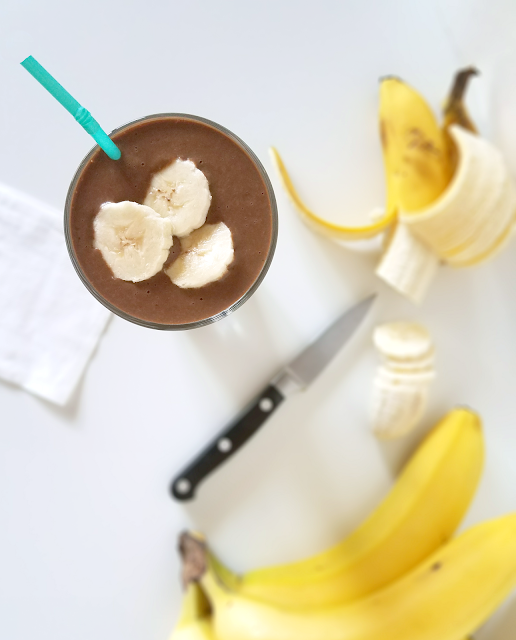 This Chocolate Peanut Butter Banana Smoothie with Coffee makes the perfect breakfast on the go! With plenty of protein, fiber, nutrients and a little boost from the coffee, this shake will start your day right and keep you going all morning. Paleo, vegan, dairy-free and gluten-free.
