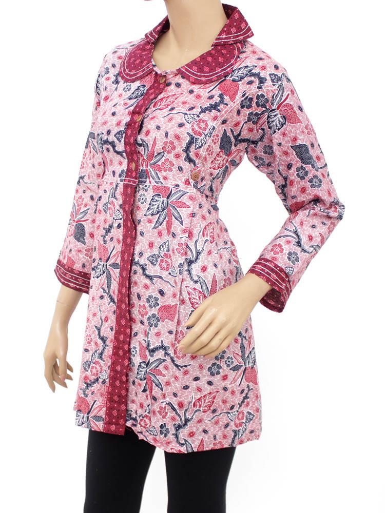 10 Koleksi Baju Batik Muslim Atasan Wanita Modern Terbaru