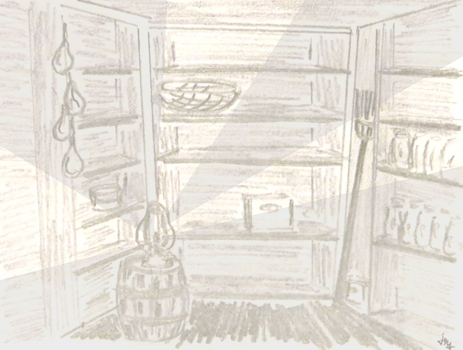 illustration for the Secret Cellar children's mystery