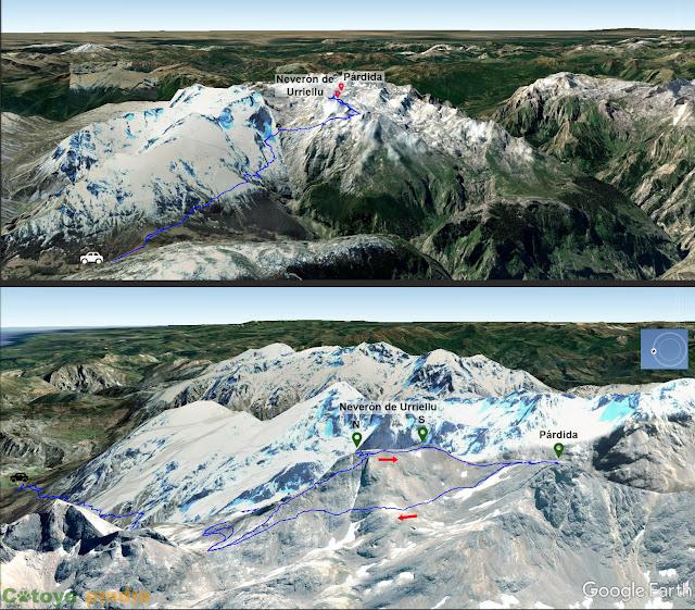 Ruta señalizada al Neverón de Urriellu y La Párdida en Picos de Europa