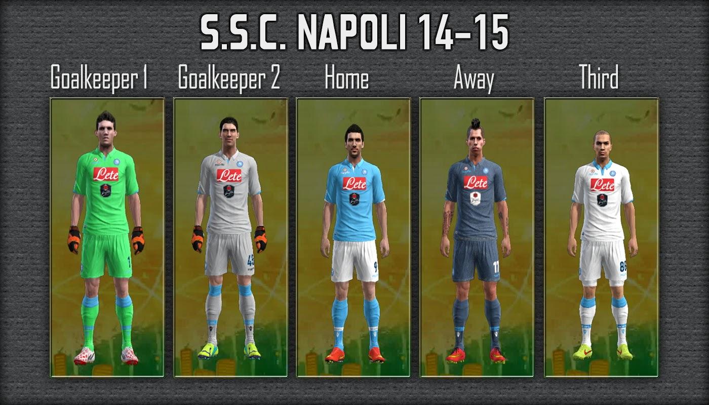 S S C Napoli: PES-MODIF: PES 2013 Update S.S.C. Napoli 14-15 GDB By