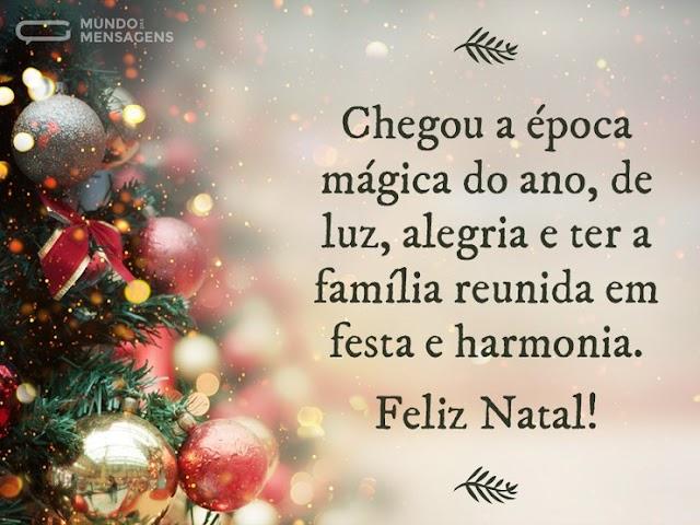 Desejamos a todos um natal de Luz e harmonia; Feliz Natal!