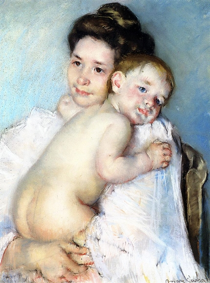 Mary Cassat: Mother Berthe Holding Her Baby