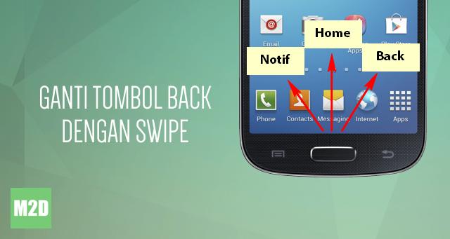 Ganti Tombol Back Android dengan Swipe