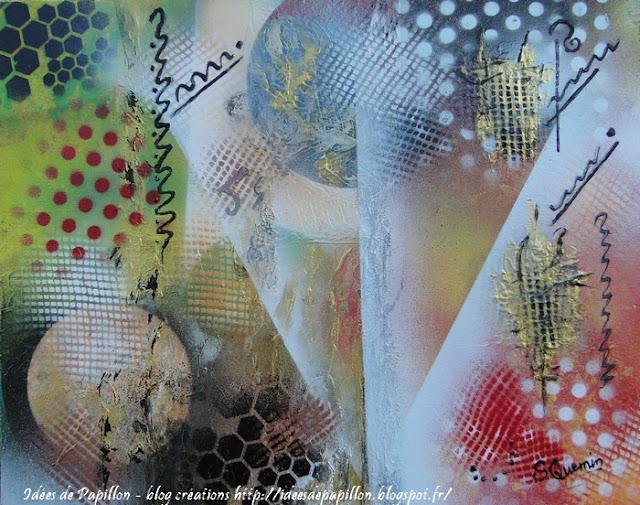 Peinture en bombe, tableaux récup