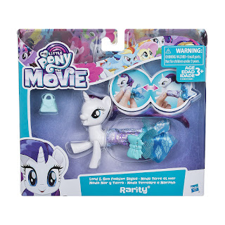 My Little Pony Movie Land and Sea Fashion Seapony Brushable Rarity