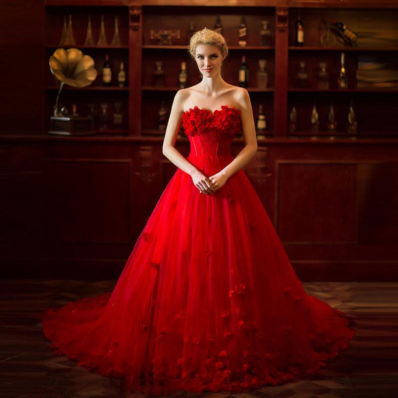 15 Contoh Gaun Pengantin Modern Warna Merah Terupdate