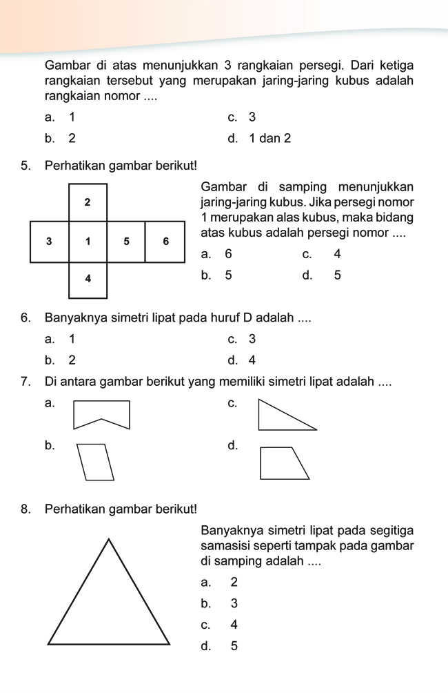 Soal Ulangan Harian Matematika Sd Kelas 6 Kumpulan Soal Matematika Soal Ulangan Harian