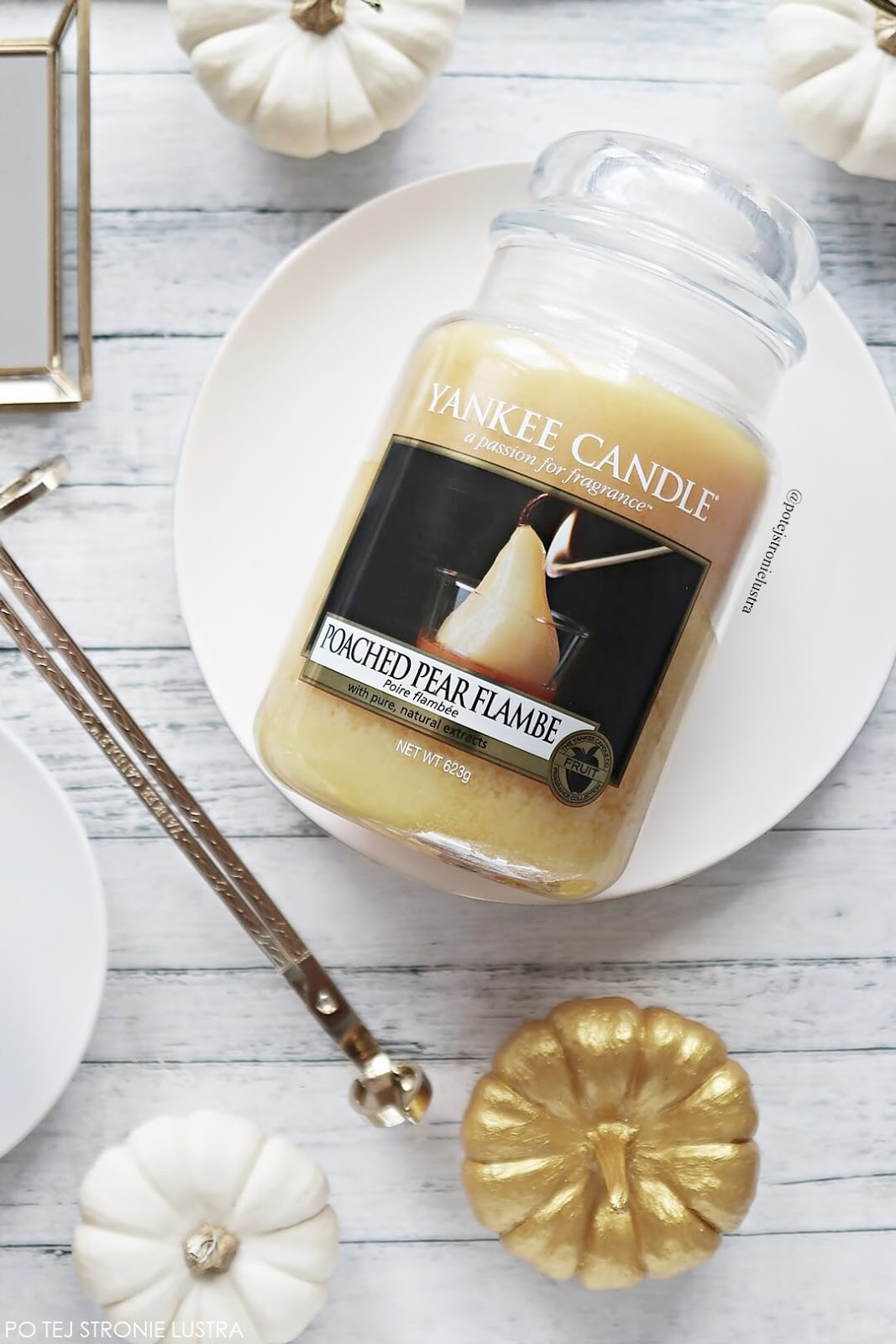 poached pear flambe yankee candle jesień 2018