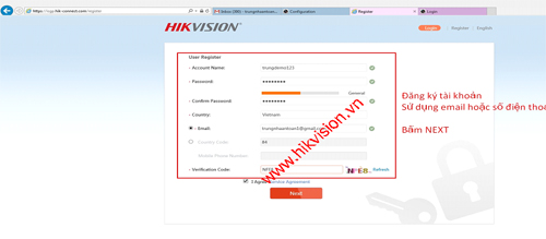 Cài đặt tên miền Hik-Connect Domain xem camera Hikvision qua