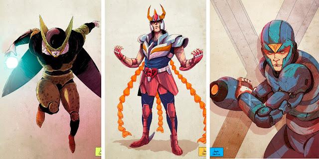 Galería de ilustraciones tipo comic por Vicente Valentine