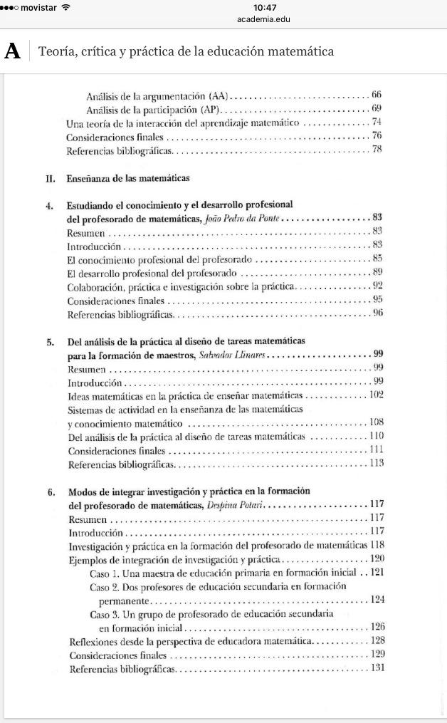 Nuria Planas Teoría, crítica y práctica de la Educación Matemática