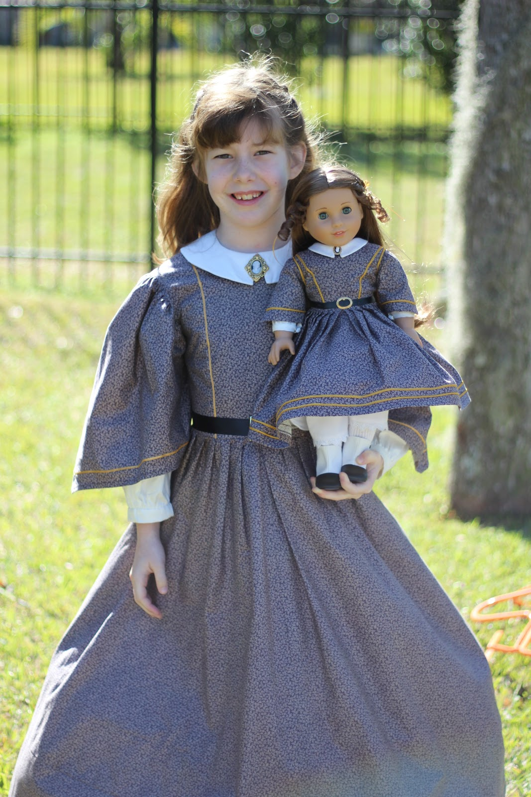 Saint Nolt Sews: Kirsten's or 1850's Costume and AG Doll Dress