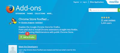 تثبيت اظافات متصفح جوجل كروم على فايرفوكس