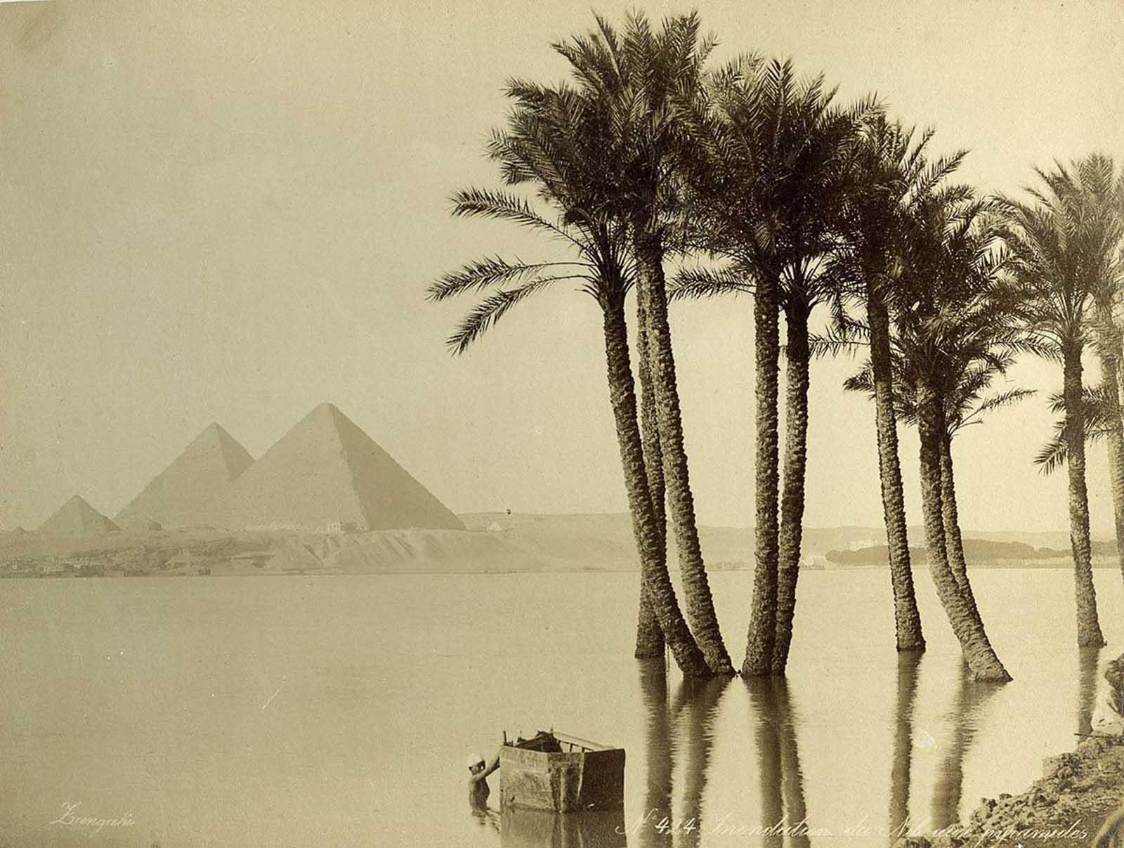 Orillas inundadas del Nilo.