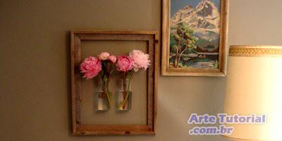 Reciclar uma moldura em um vaso de flores – Passo a Passo