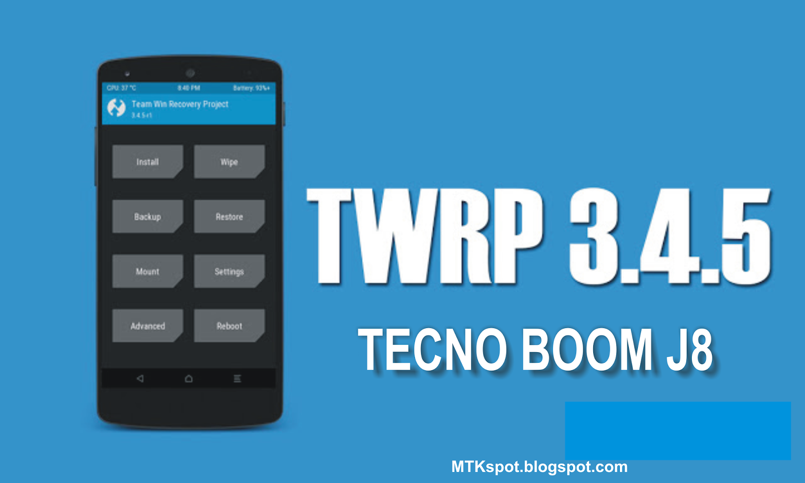 Root Tecno Boom J8 and Install TWRP Recovery [Without PC]