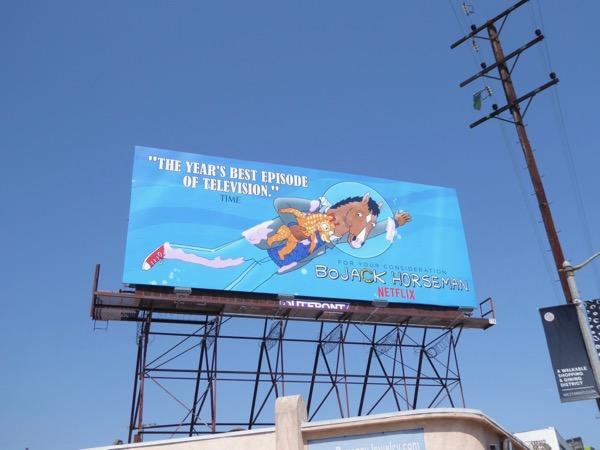 BoJack Horseman season 3 Emmy FYC billboard