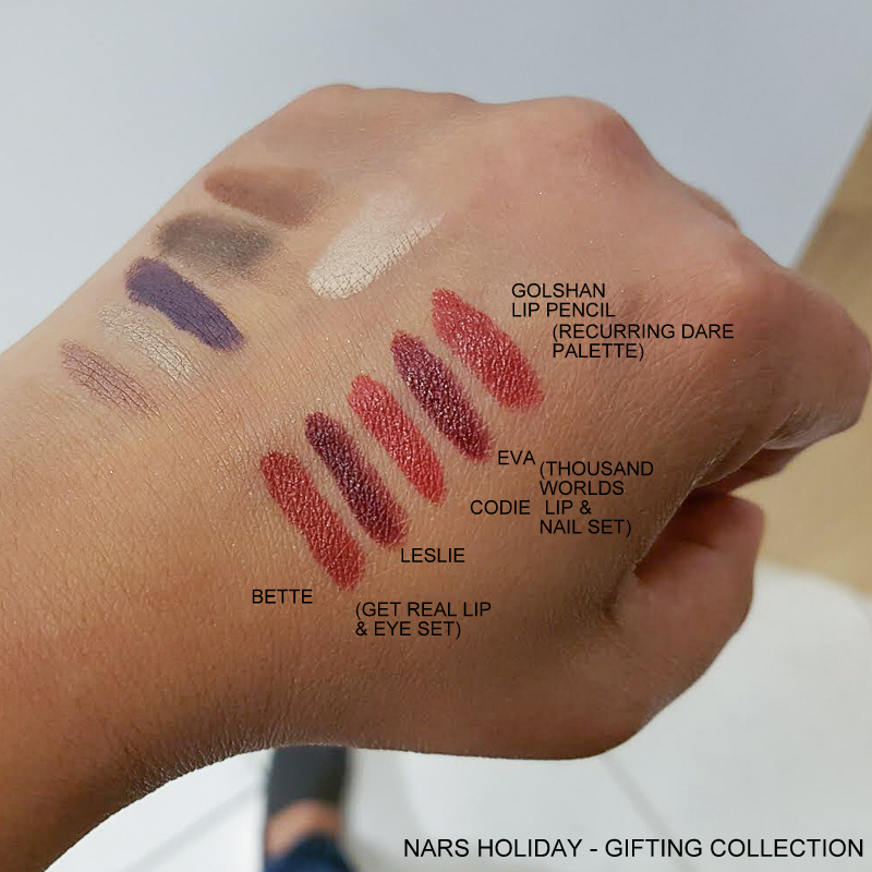 NARS Sarah Moon Holiday Gifting Collection - Audacious Lipsticks - Bette Leslie Codie Eva - Velvet Matte Lip Pencil Golshan