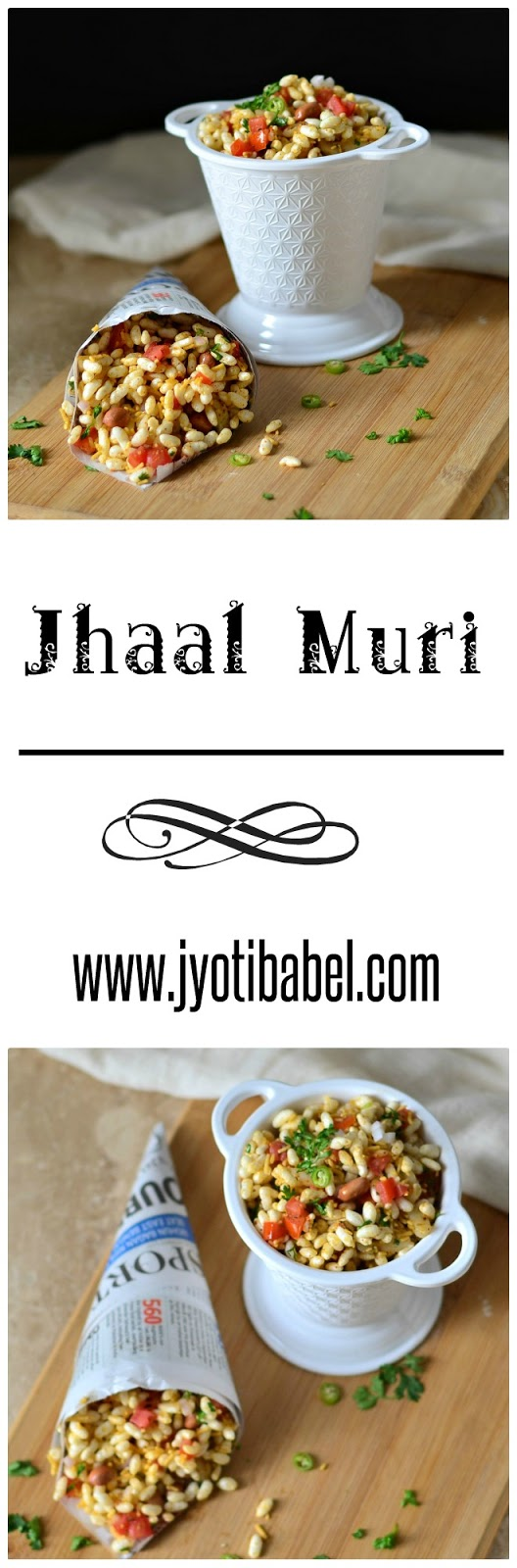 Jhal Muri Recipe - A healthy and easy snack recipe to munch on from the streets on Kolkata| www.jyotibabel.com