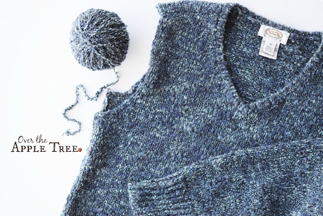 Recycle Yarn From Thrift Store Sweaters By Over The Apple Tree
