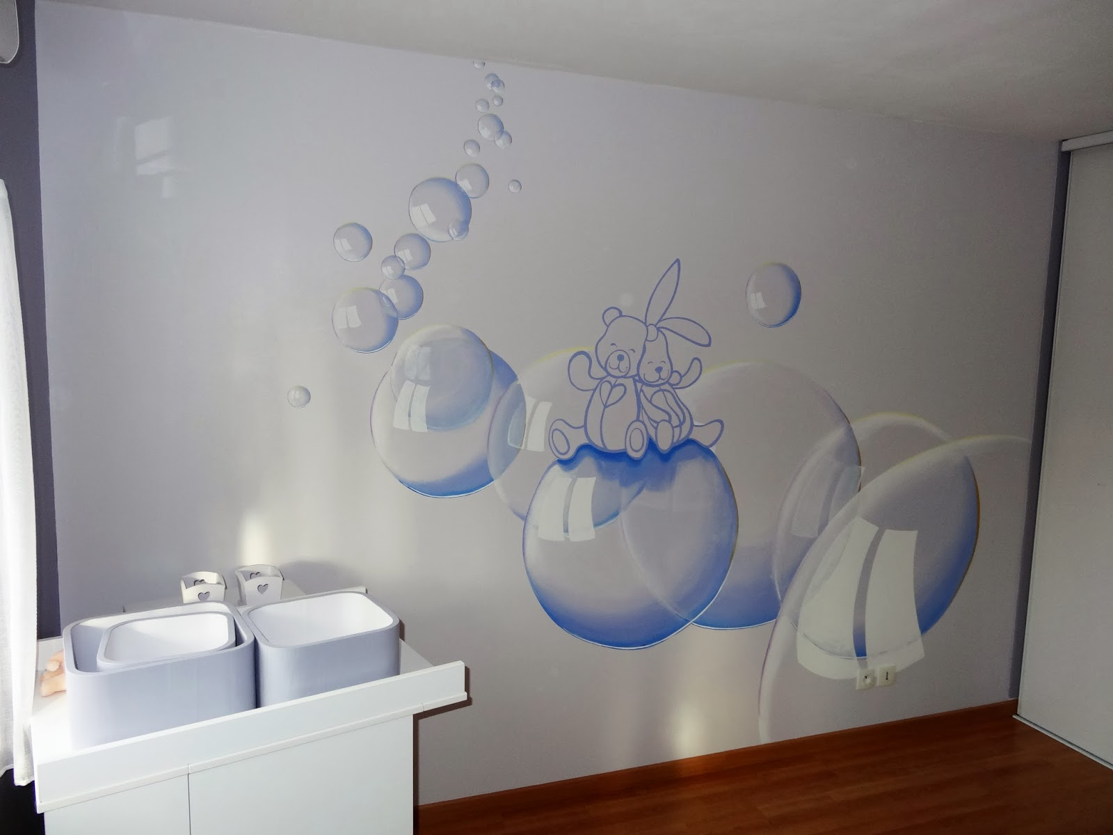 artep peinture murale chambre d 39 enfant. Black Bedroom Furniture Sets. Home Design Ideas