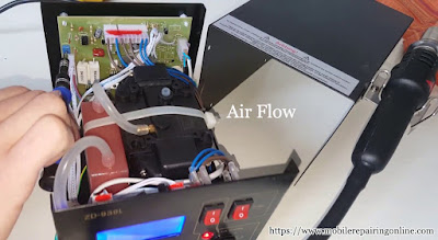 the air flow machine under the Hot Air rework Station.
