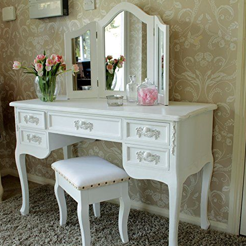 model meja rias warna putih