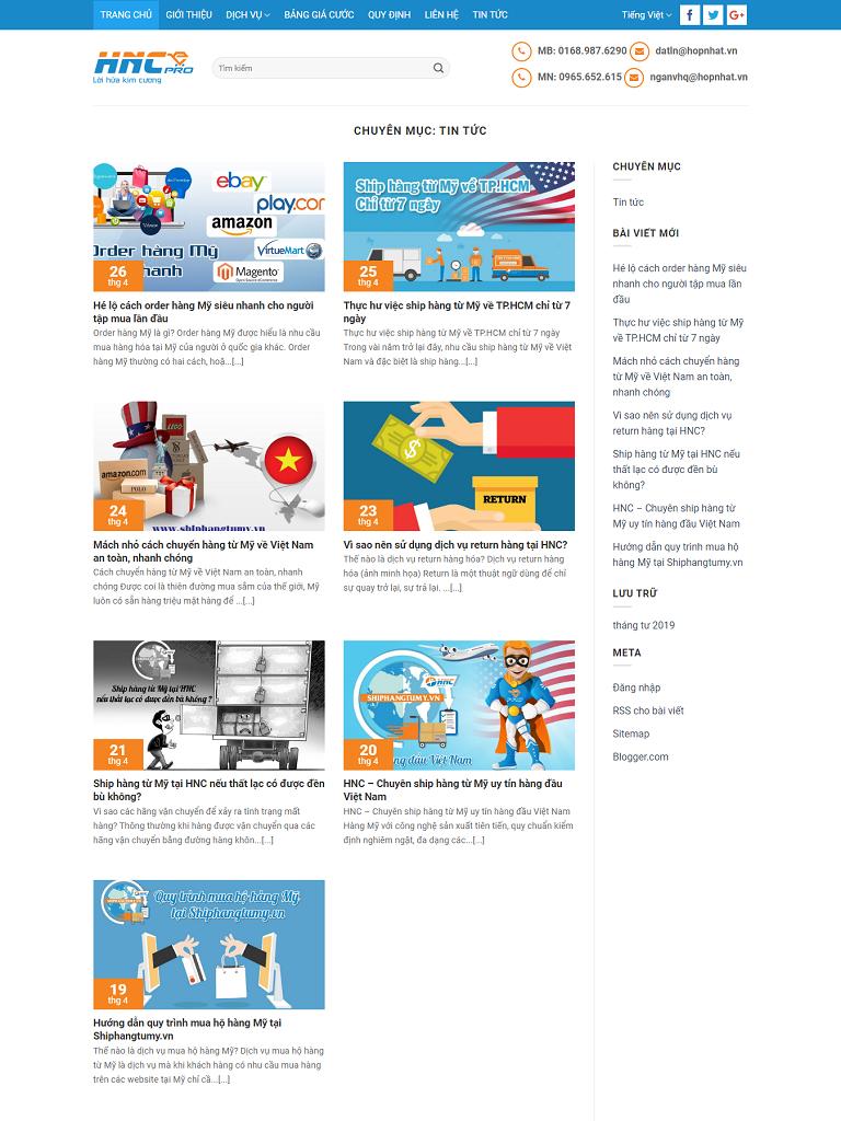 Landing Page công ty chuyển phát, ship hàng - Ảnh 2