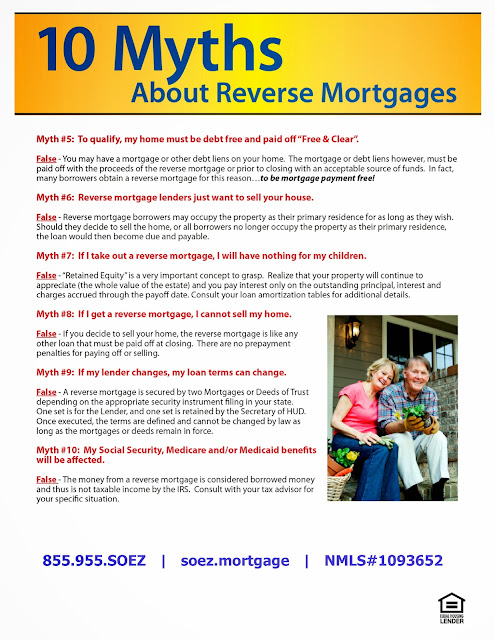 Home Loan HelpLine: 6 More Myths About Reverse Mortgages