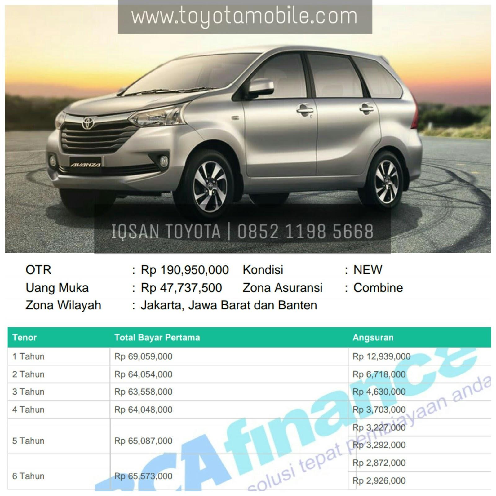 Spek Grand New Avanza 2018 Harga All Innova Venturer Promo Toyota Tangerang