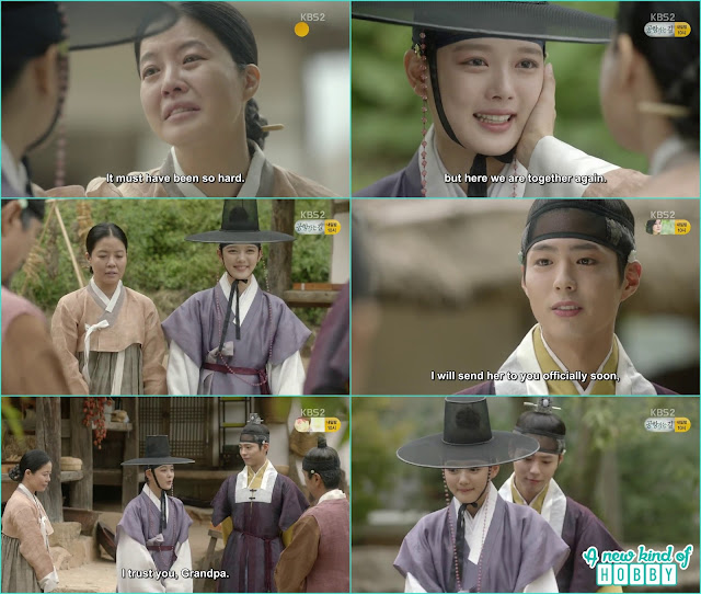 ra on meet with her mother and left with crown prince to the palace - Love In The Moonlight - Episode 12 Review