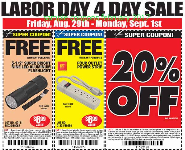 Harbor freight free coupons 2019