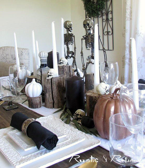 Skeleton theme Halloween Table Centerpiece