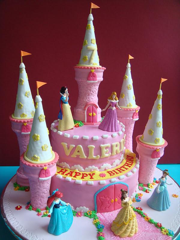 Yummy Baking Princess Castle Fondant Cake D3
