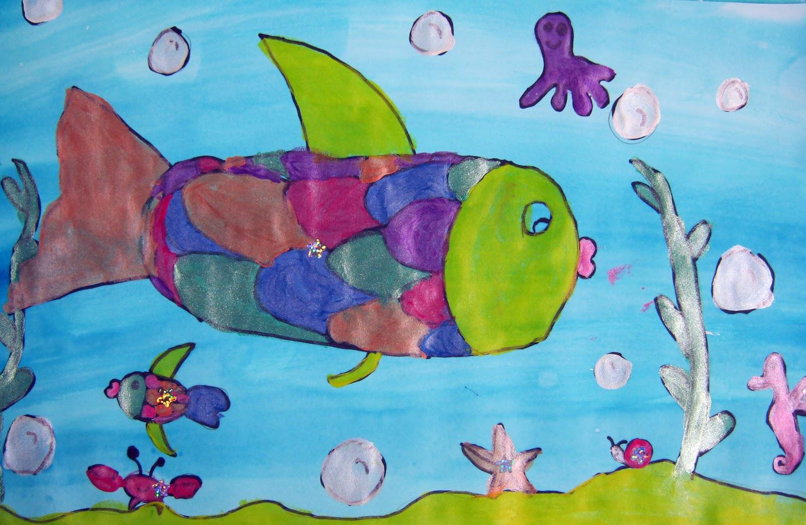 Mrs Levine S Art Room Kindergarten Rainbow Fish